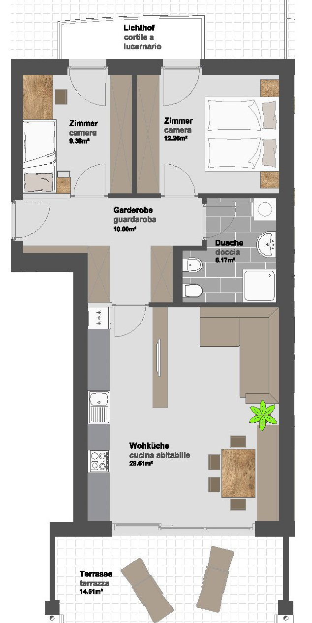 Residence st salvator 11 mader immobilien for Planimetrie personalizzate