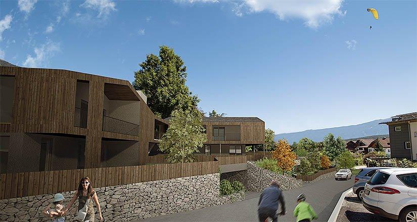 Residence sarah mader immobilien for Laghetto balneabile progetto